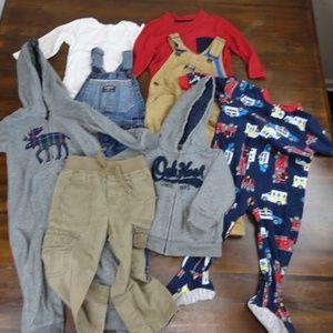 8 Piece lot of Boys Clothing Carters Oshkosh 18 Mo